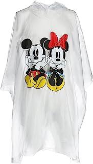 Disney Poncho de lluvia Mickey y Minnie Mouse para hombre Talla única Claro