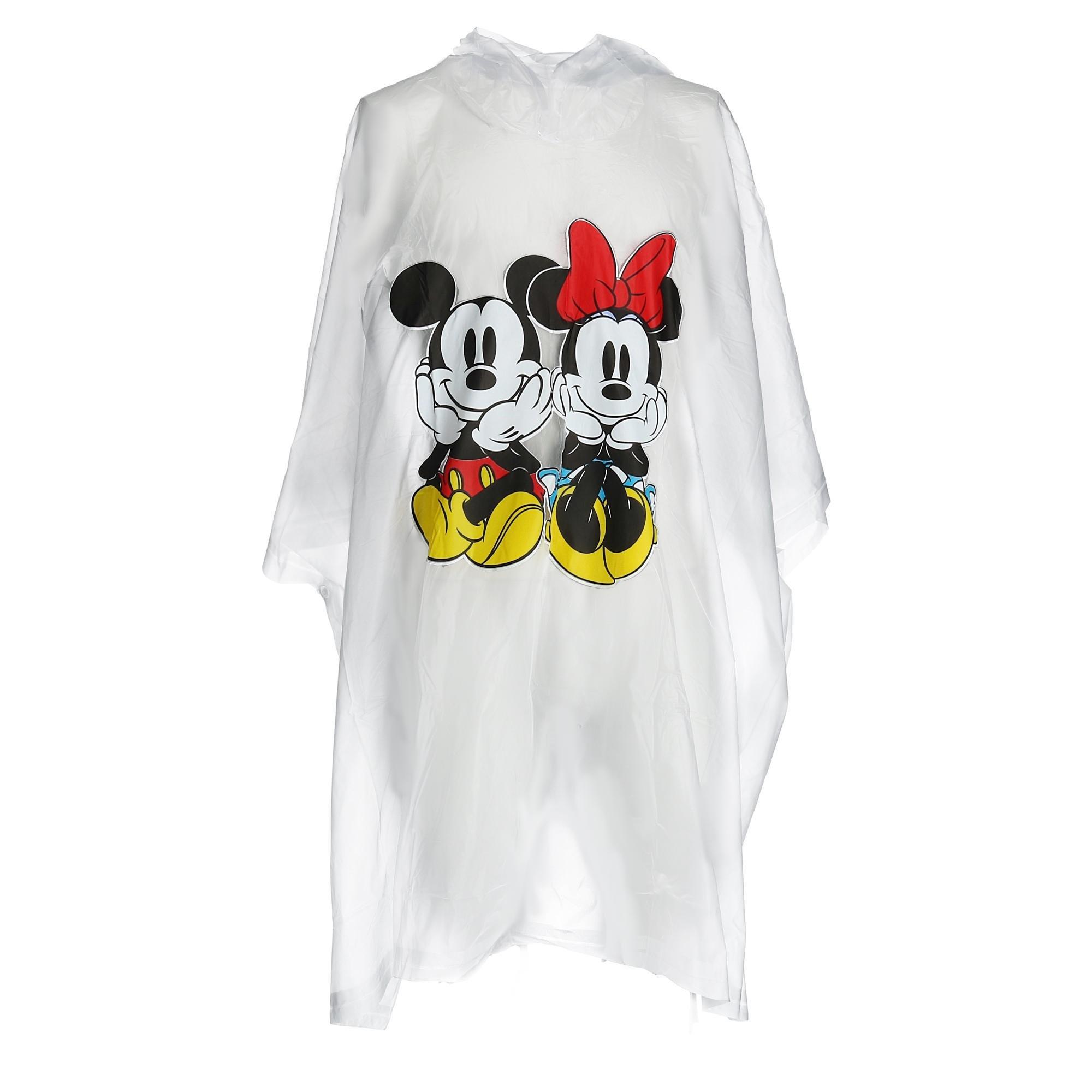 Disney Mickey Minnie Sitting Raincoat