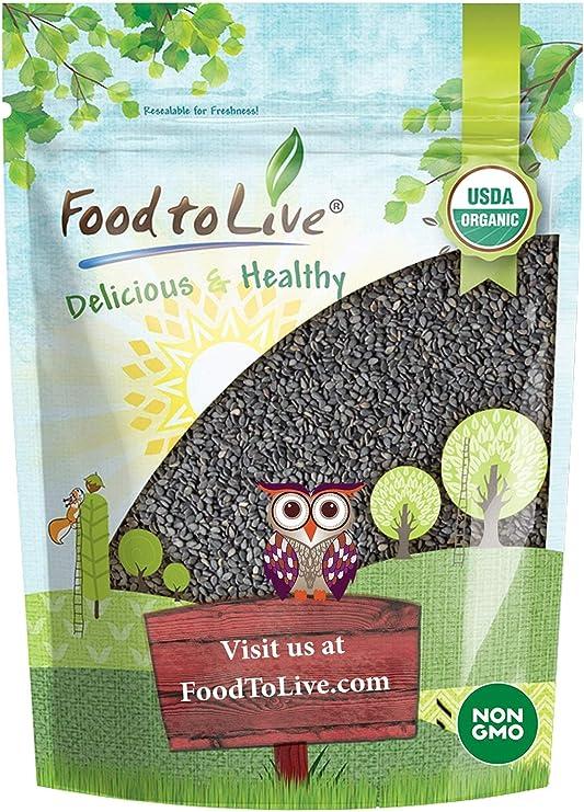 Semillas de Sésamo Negras Orgánicas, 8 Onzas - crudas, sin cáscara, sin OMG, kosher, vegana, a granel, Kala Til