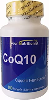 Your Nutritionist - CoQ10 – Helps Support Heart Health - 100 Softgels