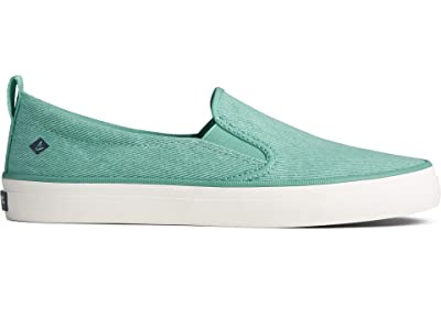 Sperry Crest Twin Gore Washed Twill (Bright Mint) Women