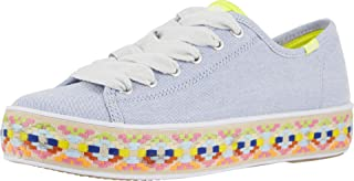 Keds Women's, Triple Kick Canvas Sneaker Blue Multi 6.5 M