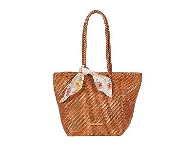 Loeffler Randall Tatia Woven Leather Tote (Timber Brown) Handbags