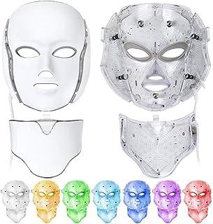 LED máscaras, 7 color Mascara led facial Light Therapy LED máscara Photon Cara y Cuello, terapia de rejuvenecimiento de la...