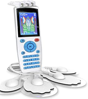 EMS + TENS Unit Muscle Stimulator with Dual Channels, 16 Modes, Rechargeable Electronic Pulse Massager for Pain Relief The...