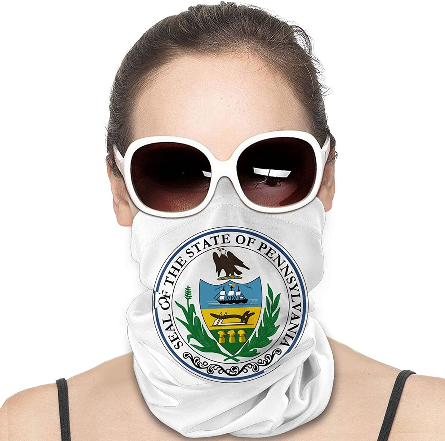 Seal of Pennsylvania Round Neck Gaiter Bandnas Face Cover Uv Protection Prevent bask in Ice Scarf Headbands Perfect for Motorcycle Cycling Running Festival Raves Outdoors