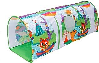 tents Tecknad serie av lektunnel – 152 cm, spela tunnel i förskolan multifunktionell tunnel för barn lätt pop-up tunnel (f...
