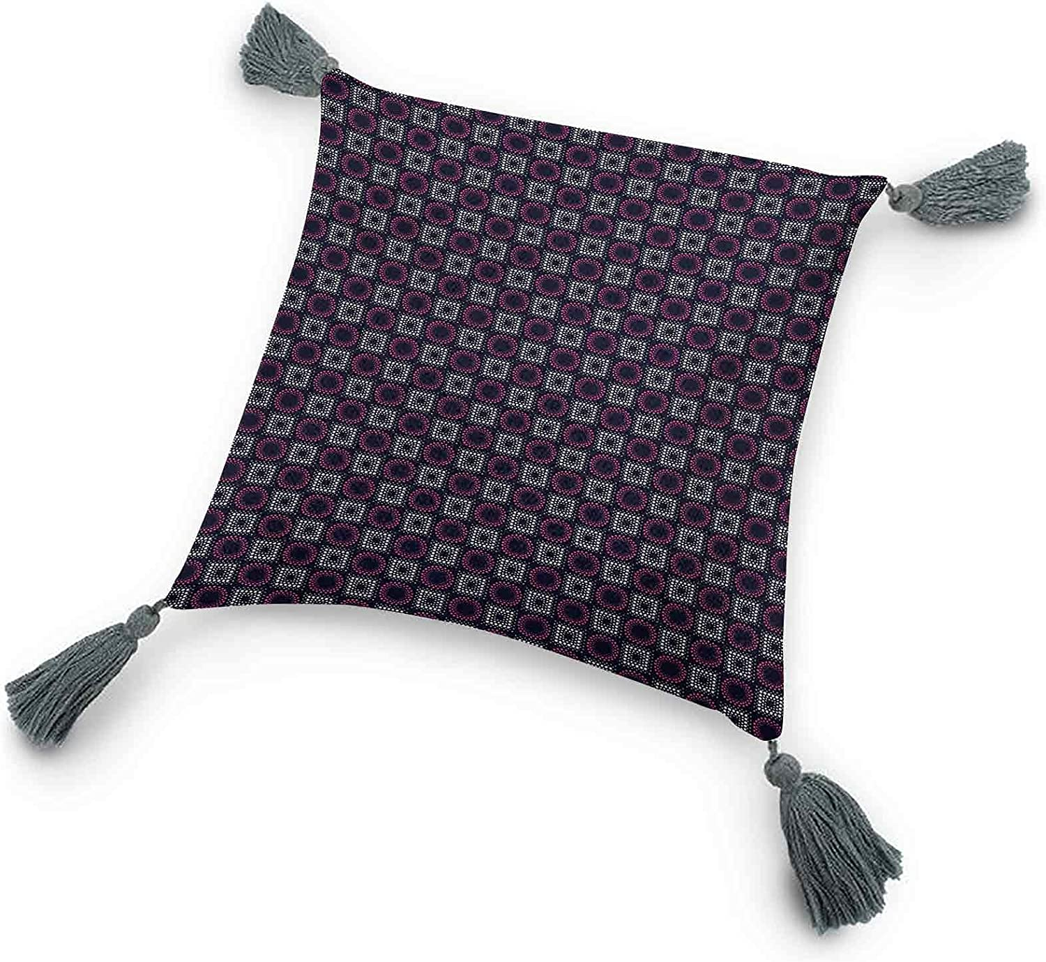 Geometric Tassel Throw Pillow Squares NEW before selling ☆ Big L New York Mall Circles and with