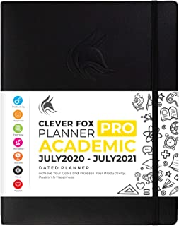 "$36 » Clever Fox Planner PRO Dated (Jul 2020-Jul 2021) Weekly & Monthly Life Planner to Increase Productivity, Time Management and Hit Your Goals - Organizer, Gratitude Journal - 8.5 x 11"" - Black"