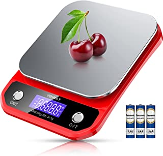 Food Scale, YEHANLY 22lb Digital Kitchen Scale, Weight Grams and oz for Cooking Baking, 1g/0.03oz Precise Graduation, Auto...