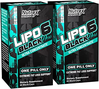 Nutrex Research Lipo-6 Black Hers Ultra Concentrate   Fat Burner Pills for Women   Hair, Skin, Nails Support   120Count