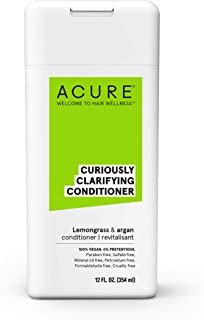 ACURE Curiously Clarifying Conditioner - Lemongrass & Argan | 100% Vegan | Performance Driven Hair Care | Gently Cleanses,...