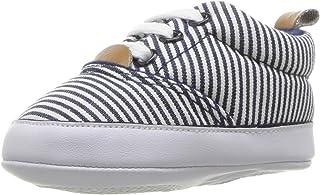 Luvable Friends Kids' Casual Print Canvas Sneaker Crib Shoe