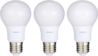 Philips LED Bulb 7-60W E27 6500K X 3pieces Offer Pack, White, W 15.0 x H 12.0 x L 6.2 cm