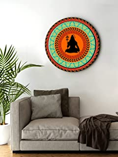 999Store small frames for wall decor room office Blessing Shiva Round Shape wall art painting wall hanging (MDF_11X11 Inc...