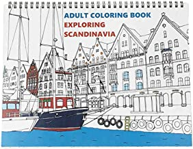 Adult Coloring Book: Exploring Scandinavia