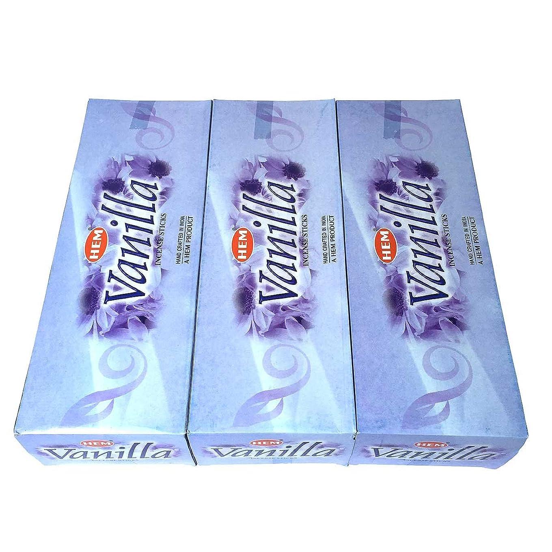 デマンド震える迅速バニラ香 スティック 3BOX(18箱)/HEM VANILLA / インド香 お香 [並行輸入品]