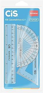 Kit Geométrico, CIS, 47.5100, Transparente, Blister c/4 peças