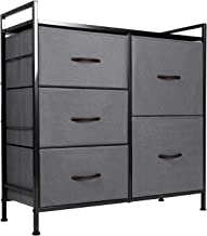 ODK Dresser with 5 Drawers, Fabric Storage Tower, Organizer Unit for Bedroom, Chest for Hallway, Closet. Steel Frame and W...