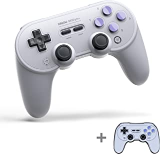 8Bitdo SN30 Pro+ Bluetooth Gamepad for Nintendo Switch, PC, macOS, Android, Steam and Raspberry Pi with a Commemorative Brooch (SN Edition)