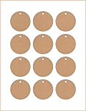 120 Printable Cardstock Kraft Circle Hang Tags with Holes, Personalize and Custom Tags, 2 x 2 inches