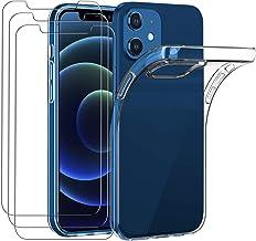 iVoler Coque Compatible ave iPhone 5.4 Pouces 2020 12 Mini avec Pack de 3 Verre trempé. Transparente