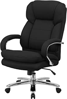 Delacora GO-2078-GG 28 Inch Wide Fabric Executive Swivel Chair with Built-in Lumbar Support