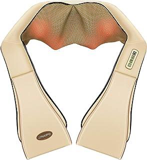 Naipo Masajeador de Cuello y Hombros Shiatsu Masajeador Cervical con Intensidad Regulable y Función de Calor
