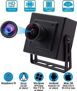 Camera USB 5 Megapixel 2592X1944 Webcamera with Aptina Sensor 170 Degree Fisheye Camera with Aluminum Mini Case Wide Angle Video Webcam High Difinition Webcam UVC for Android Windows Linux Mac Web Cam
