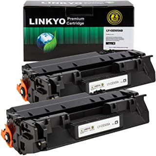 Best LINKYO Compatible Toner Cartridge Replacement for HP 05A CE505A (Black, 2-Pack) Review