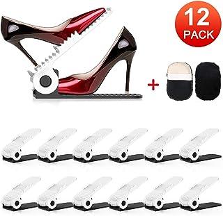 Soporte de Calzado Organizadores de Zapatos Soporte Ajustable de Zapatos de PP Durable para Ahorro de Espacio Ayudant...