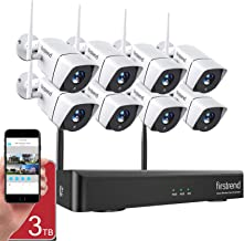 1080P Wireless Security Camera System, Firstrend 8CH Wireless NVR System with 8pcs 1080P HD Security Camera and 3TB Hard D...