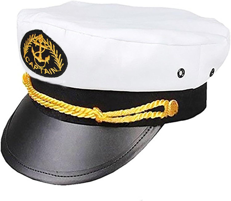 Captain Anchor Sailor Hat Navy Fancy Dress Yacht Costume Marine Sea Cap Fishing