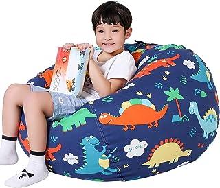 صندلی کیسه حبوبات ذخیره سازی حیوانات Lukeight ، روکش کیسه لوبیا برای سازماندهی اتاق کودکان - متناسب با بسیاری از حیوانات پر شده ، بزرگ / دایناسور