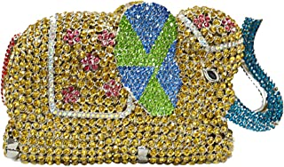 Clutch-Purse Ladies Sequin Diamante Womens Chain Shoulder Evening-Bags Bling Bridal Elephant Yellow