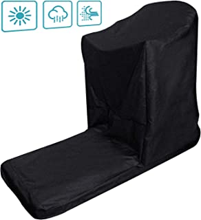 Onlyme Treadmill Covers for Non-Folding Home Running Machines with Zipper & Drawstring, Black