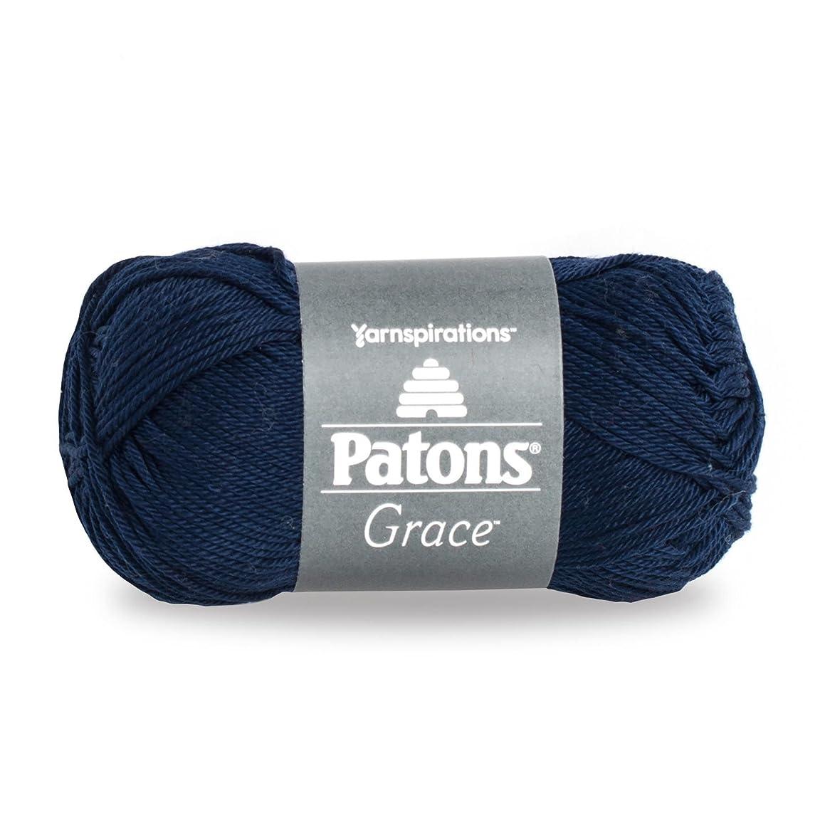 Patons Grace  Yarn, 1.75 oz, Navy, 1 Ball
