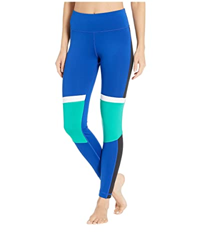 Reebok Work Out Ready Meet You There Panel Poly Tights (Cobalt) Women
