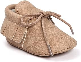 Meckior First Walkers - Unisex Baby Boys Girls Moccasins Soft Sole Tassels Prewalker Anti-Slip Loafer Shoes
