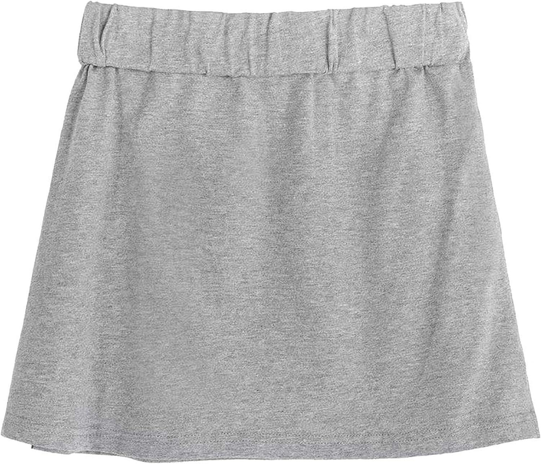 Alueery Sweatshirt Base Skirt All-Match Short Skirt in The Hem