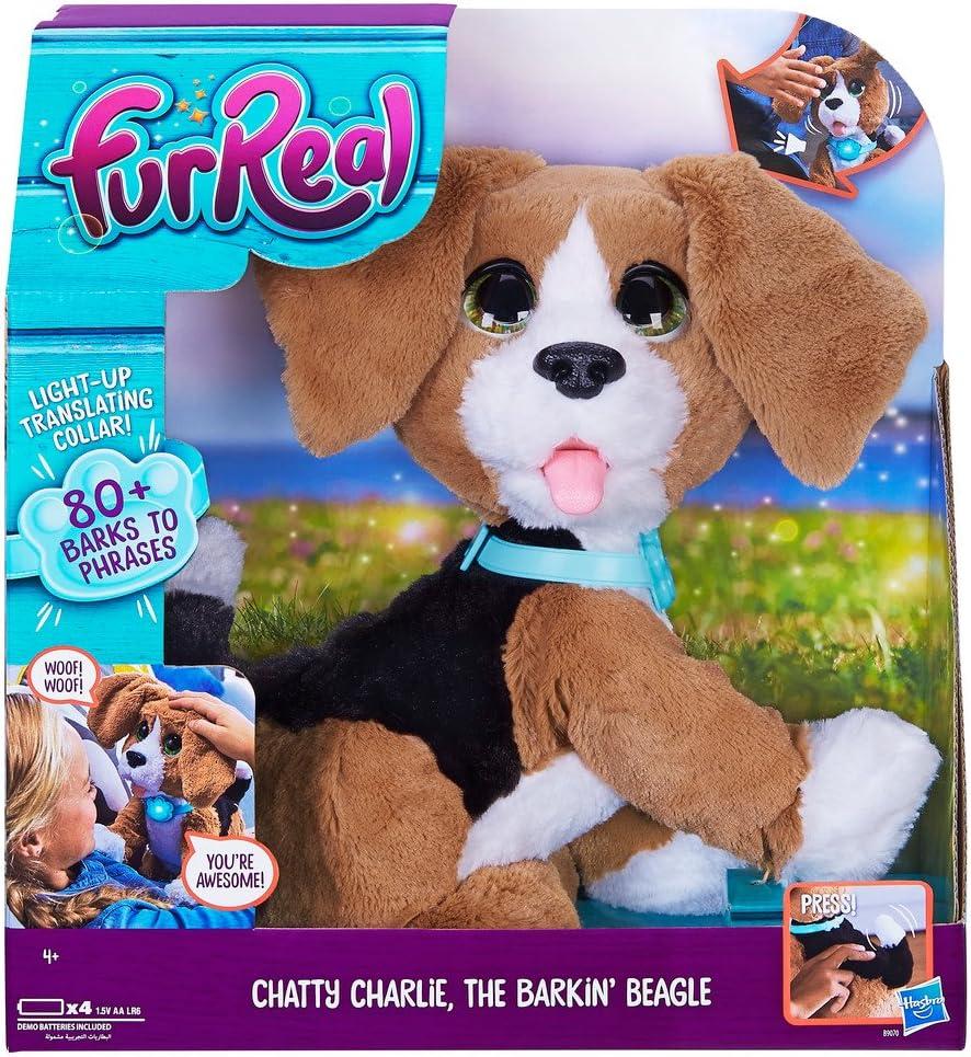 Hasbro FurReal Chatty Charlie Perro de juguete Multicolor - Juguetes de peluche (Perro de juguete, Multicolor, FurReal Friends, 4 año(s), Perro, 1,5 V)