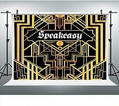 Golden Speakeasy Retro Party Photography Backdrop, 9x6FT, Underground Pub Bar Speakeasy Background, Photo Booth Studio Props LYLU459