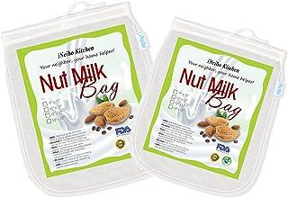 iNeibo Nussmilchbeutel Passiertuch Käsetuch aus reißfestem Nylon wiederverwendbar. 2er..