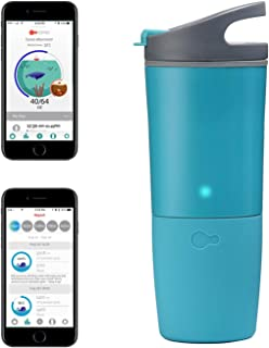 ozmo Watertight Rechargeable Bluetooth Smart Cup Hydration Tracker iOS App LED Indicator