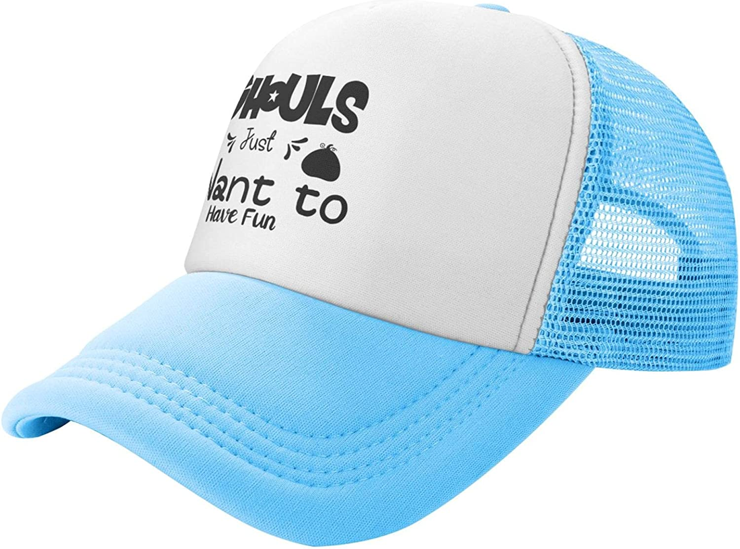 Chicago Mall Myshe Summer Mesh Baseball Cap Ghouls Just Fun Time sale Have Funn Want to