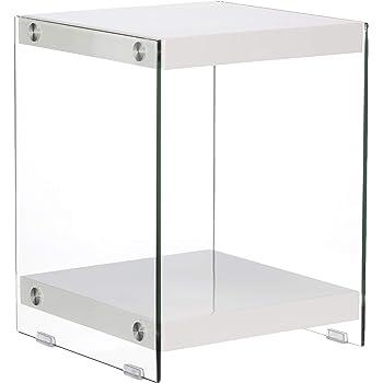 Idea Mesas de Cristal y metacrilato Mesa Auxiliar 46 x 34 x 45 de ...