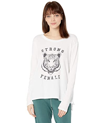good hYOUman Suzanne Strong Female Long Sleeve Tee (White) Women