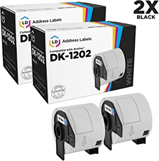 LD Compatible Shipping Label Replacement for Brother DK-1202 2.4 in x 3.9 in (300 Labels, 2-Pack)