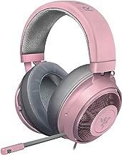 Razer Kraken Gaming Headset 2019: Lightweight Aluminum Frame - Retractable Noise Cancelling Mic - for PC, Xbox, PS4, Nintendo Switch - Quartz Pink
