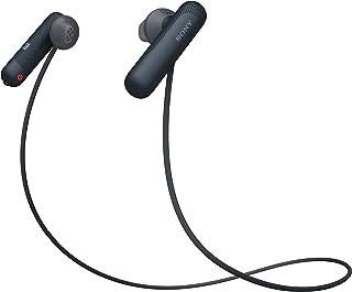 索尼 无线运动耳机 带噪音降噪 包括充电盒(IPX4 防水,额外低音)黑色WISP500B.CE7